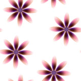 Purple brown pink blossoms, seamless periodic floral pattern,  flowers, transparent background. Royalty Free Stock Photos