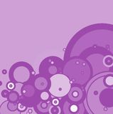 Purple bubble. A hazzy purple background with the use of circles Stock Photography