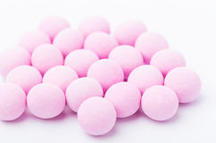 Purple bubblegum. Isolated on white Royalty Free Stock Image