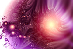 Purple Bubbles. Digital created abstract. Fractal generation Royalty Free Stock Images