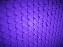 Purple bulging circles texture or background. Large resolution artistic shallow DOF Stock Photo