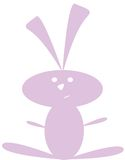 Purple Bunny Royalty Free Stock Images