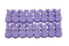 Purple bunny easter candy Stock Photos