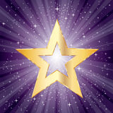 Purple burst fat star Royalty Free Stock Photos
