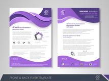 Purple business brochure Royalty Free Stock Image