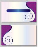 Purple business card template. With elegant design Stock Images