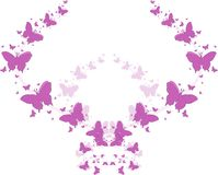 Purple butterflies for greeting cards. And other kind of cards Vector Illustration
