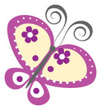 Purple butterfly Royalty Free Stock Photo
