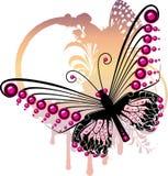 Purple butterfly Stock Image