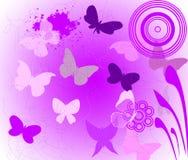 Purple butterfly. Many purple butterfly on background Stock Photo