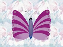 Purple butterfly. With background, efect meadow textured Stock Photo
