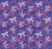 Purple Butterfly Background. Shabby circles pattern butterfly design colorful  purple and orange background illustration Stock Photo