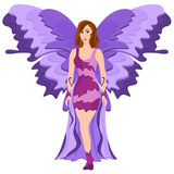 Purple Butterfly Fairy. Illustration of a Purple Butterfly Fairy Stock Photo