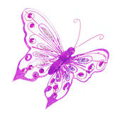 Purple butterfly, glitter Christmas decorations is Stock Photo
