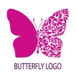 Purple butterfly logo Stock Image
