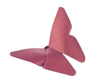 Purple butterfly of origami Royalty Free Stock Photo