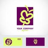 Purple butterfly spa logo Stock Photo