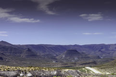 Purple buttes in Guadalupe Mountains National Parks Royalty Free Stock Photography