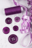 Purple buttons Royalty Free Stock Photography