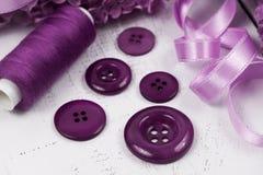 Purple buttons Stock Photo