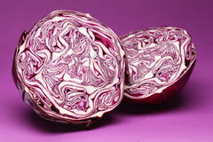 Purple cabbage. Royalty Free Stock Image
