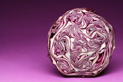 Purple cabbage. Stock Images