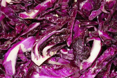 Purple cabbage dish Stock Image