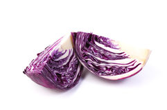Purple cabbage isolated on white background Royalty Free Stock Image