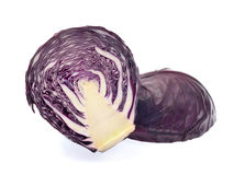 Purple cabbage isolated on white background Stock Image