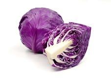 Purple cabbage. Isolated on white background Stock Image