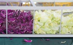 Purple cabbage and lettuce slice Stock Photo
