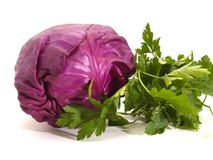 Purple cabbage and parsley Stock Image
