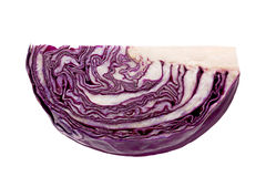 Purple cabbage part isolated Stock Photo