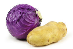 Purple cabbage & Potato Stock Image