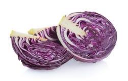Purple cabbage slice Stock Photography