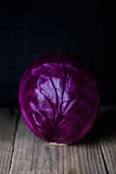 Purple cabbage, vegetarian, healthy food. Close up, fresh organic vegetables. Royalty Free Stock Photo
