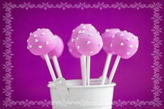 Purple cake pops Royalty Free Stock Photography