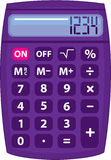 Purple calculator Royalty Free Stock Image