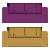 Purple And Camel Sofa Stock Image