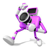 A Purple Camera Character and a martial arts. Create 3D Camera R Royalty Free Stock Photos