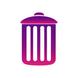 Purple can trash icon. Illustraction design Royalty Free Stock Images