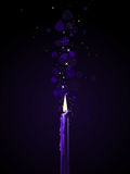 Purple candle magic Royalty Free Stock Photos