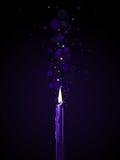 Purple candle magic Royalty Free Stock Photos