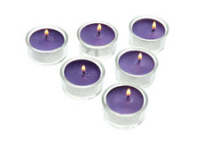 Purple candles Royalty Free Stock Image