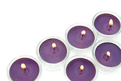 Purple candles Royalty Free Stock Photos