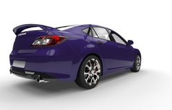 Purple Car - Back View Royalty Free Stock Photo