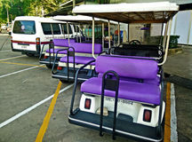 Purple Car Club car in Thailand Stock Image