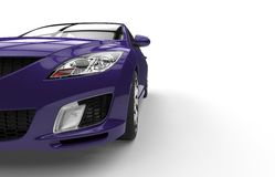 Purple Car - Front View Shot Stock Image