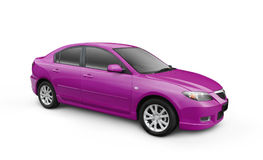 Purple Car w/ Clipping Path Royalty Free Stock Photo