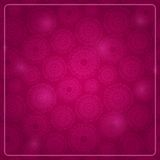 Purple Card with Round Elements and Shiny Dots Royalty Free Stock Images